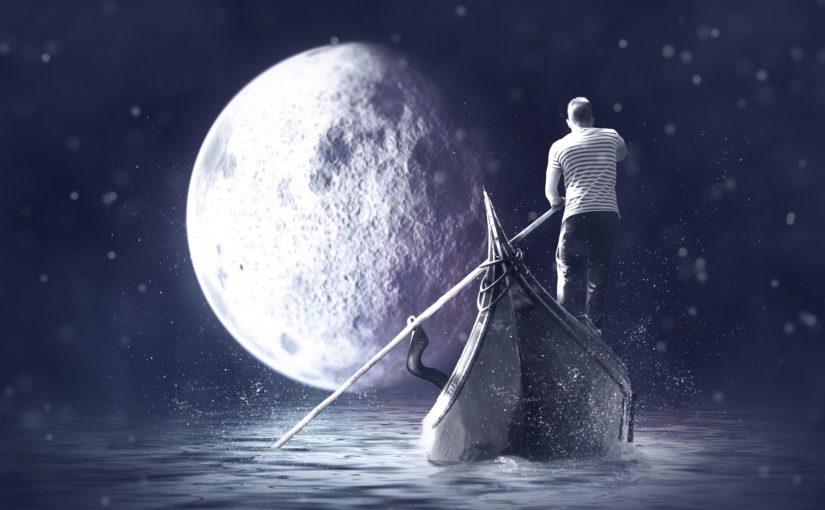 A Gondolier at night