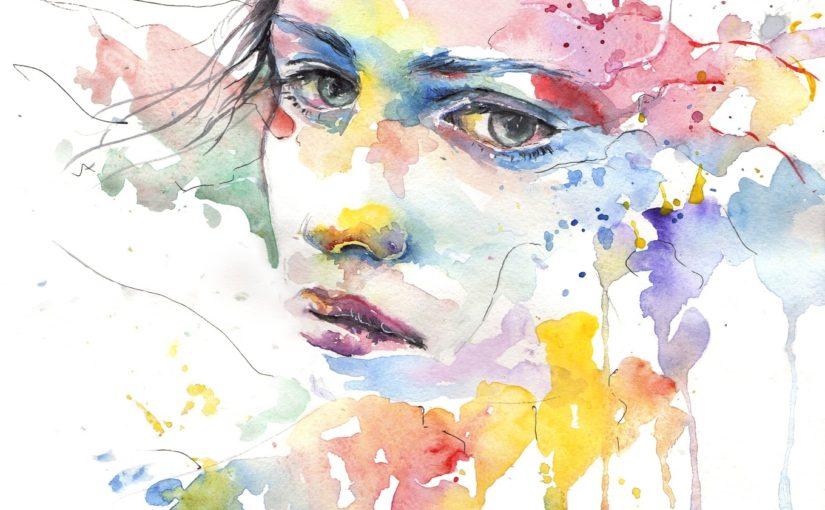 A Watercolor Character Portrait