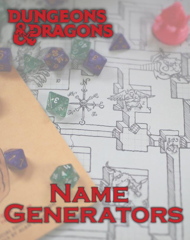 D&D Name Generators