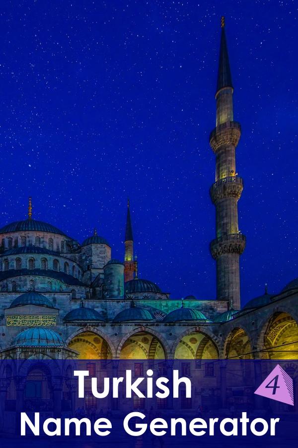 Turkish Name Generator