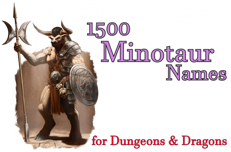 1500 Minotaur Names for Dungeons and Dragons 5e