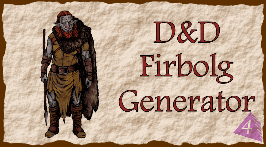 D&D Firbolg Name Generator