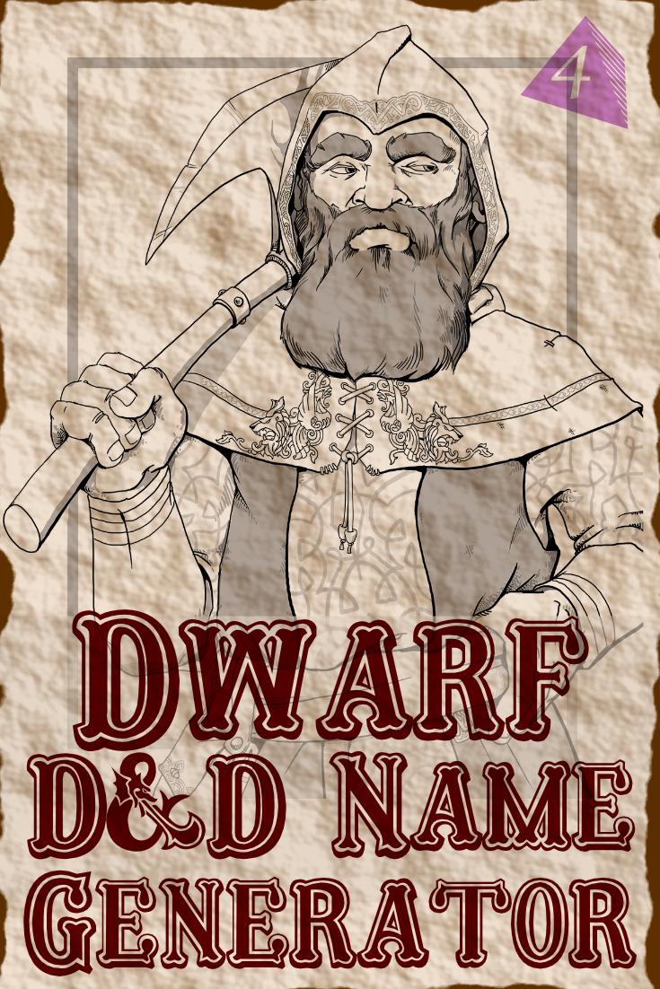 D&D Dwarf Name Generator