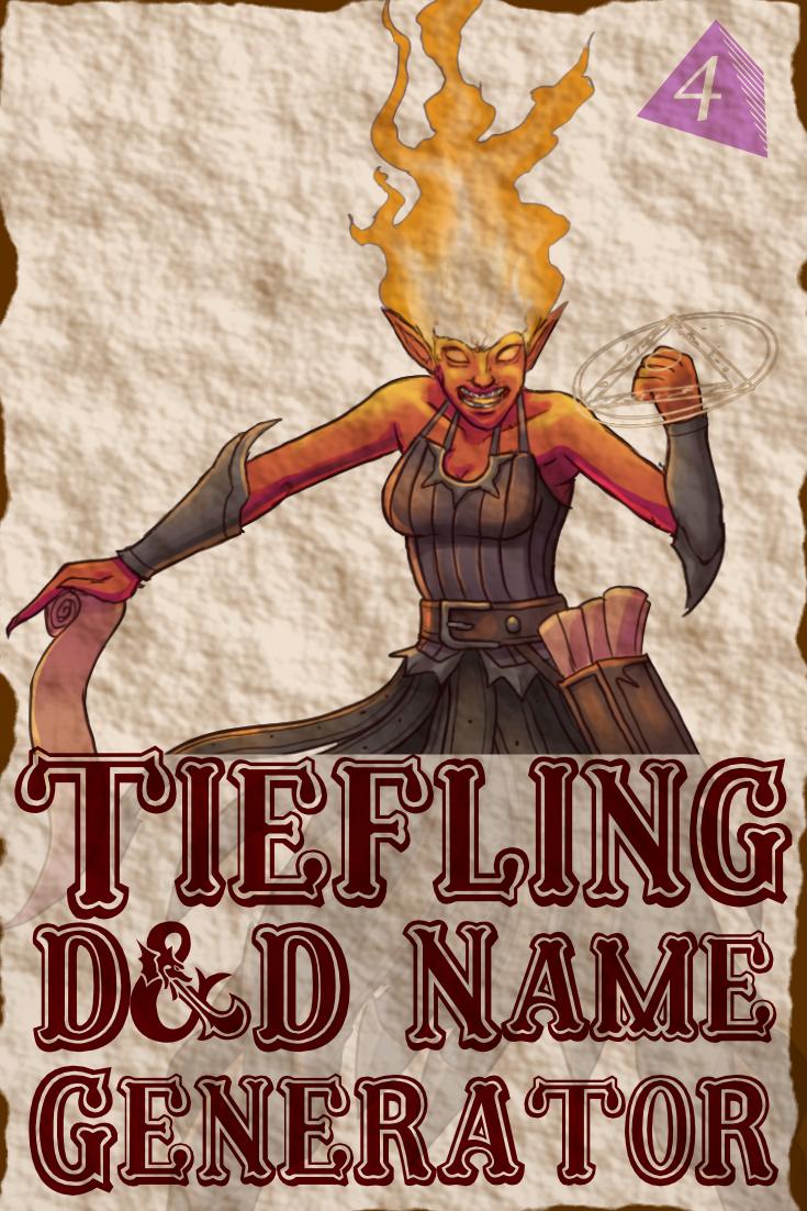 D&D Tiefling Name Generator