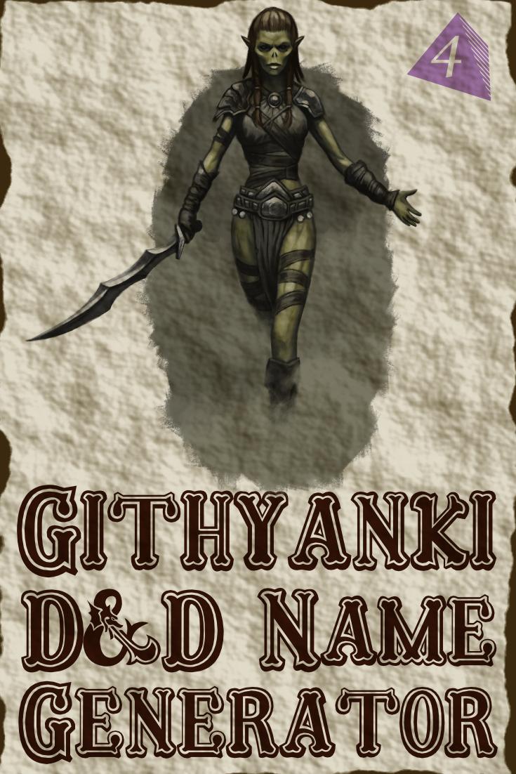 D&D Githyanki Name Generator