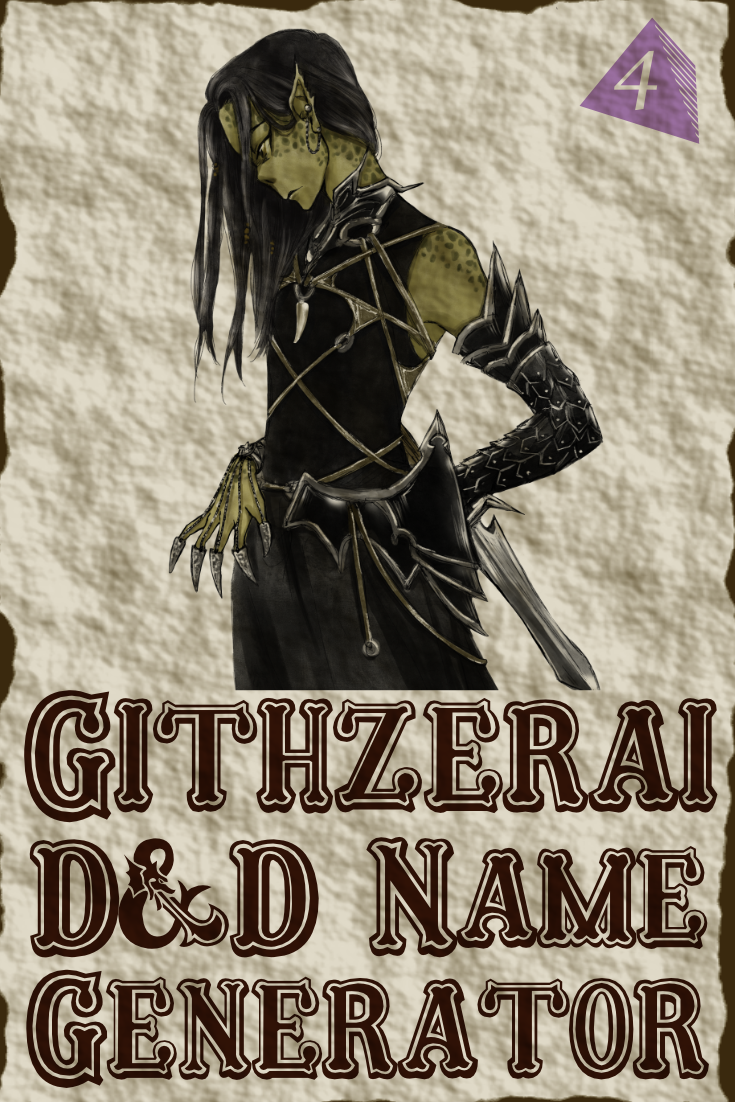 D&D Githzerai Name Generator