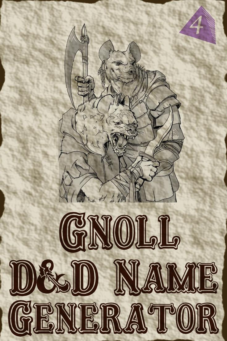 D&D Gnoll Name Generator