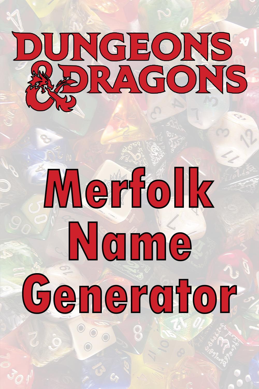 D&D Merfolk Name Generator
