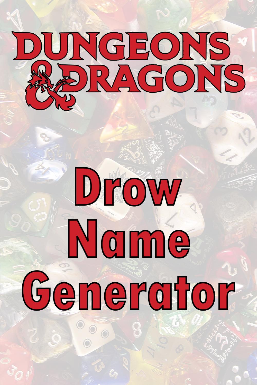 D&D Drow Name Generator