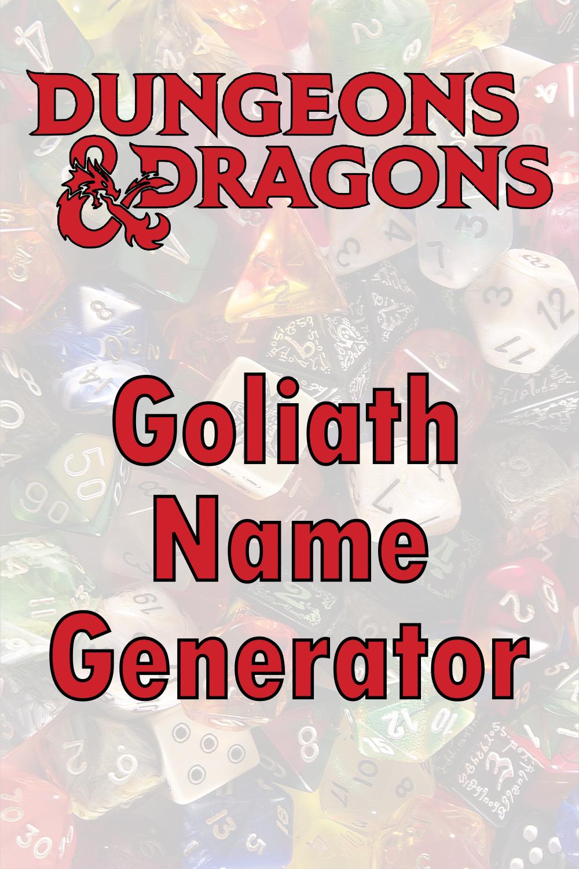 D&D Goliath Name Generator
