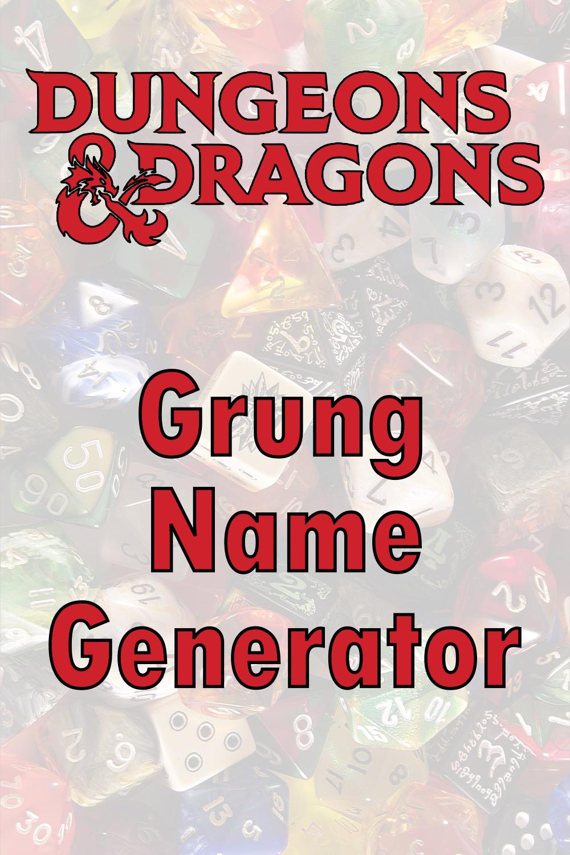 D&D Grung Name Generator