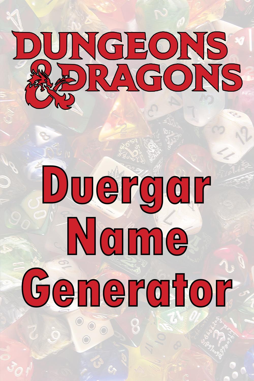 D&D Duergar Name Generator