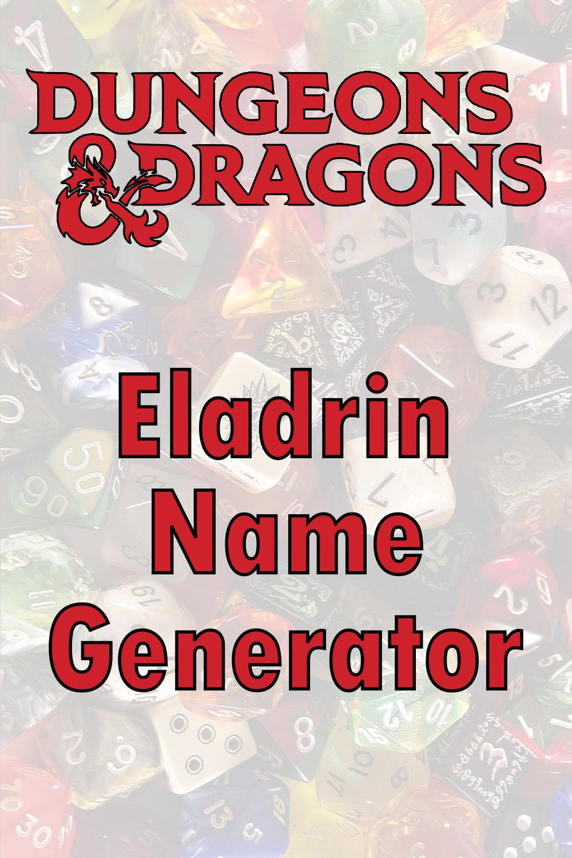 D&D Eladrin Name Generator