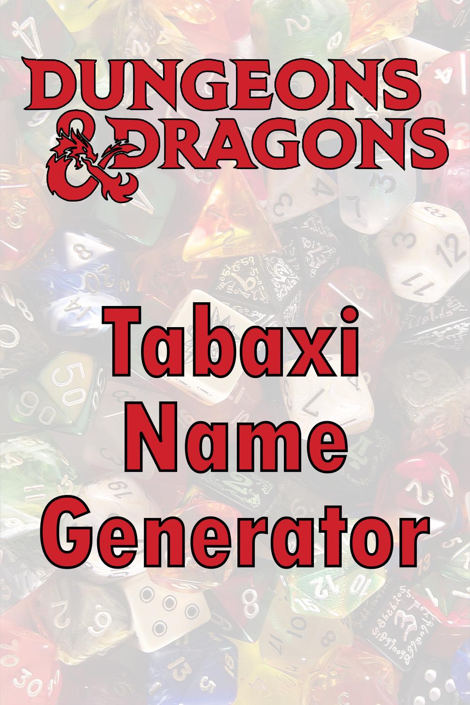 D&D Tabaxi Name Generator