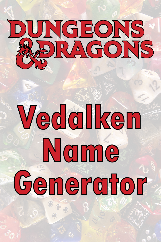D&D Vedalken Name Generator