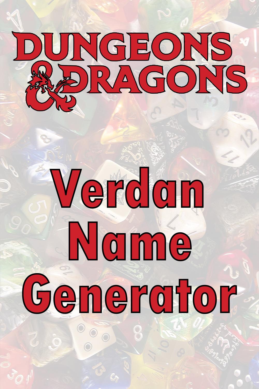 D&D Verdan Name Generator