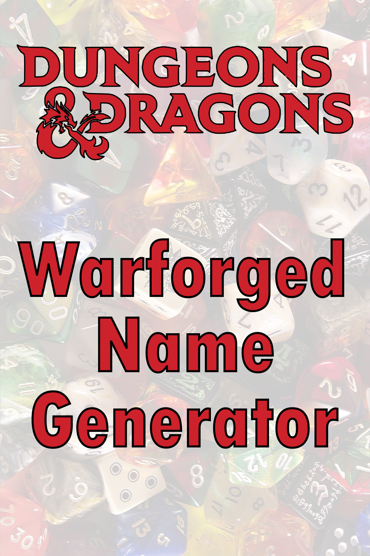 D&D Warforged Name Generator