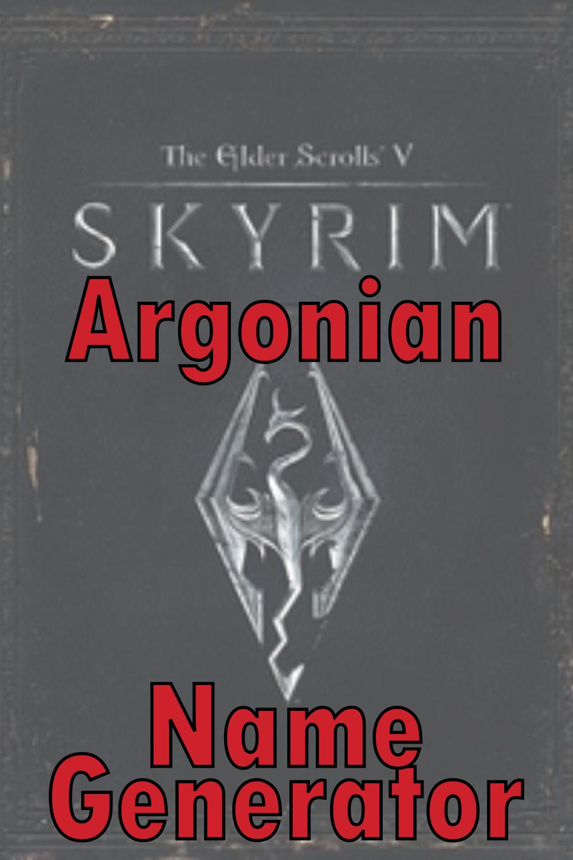 Argonian Name Generator
