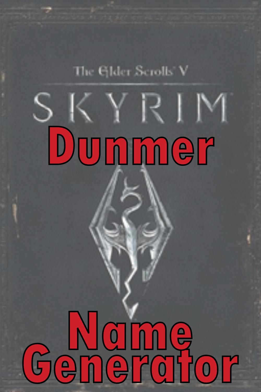 Dunmer Name Generator