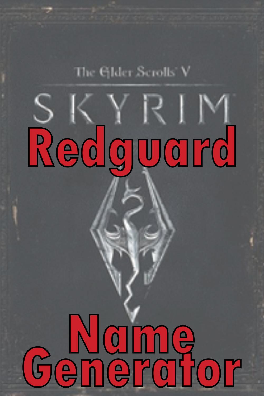 Redguard Name Generator